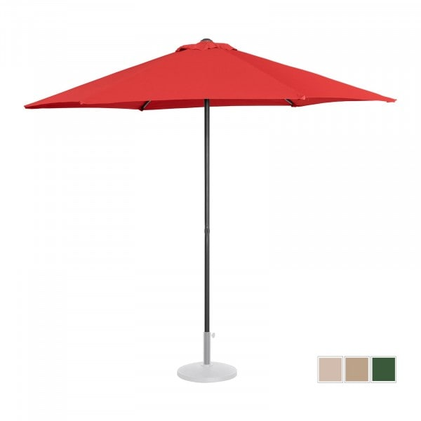 Large Outdoor Umbrella - red - hexagonal - Ø 270 cm