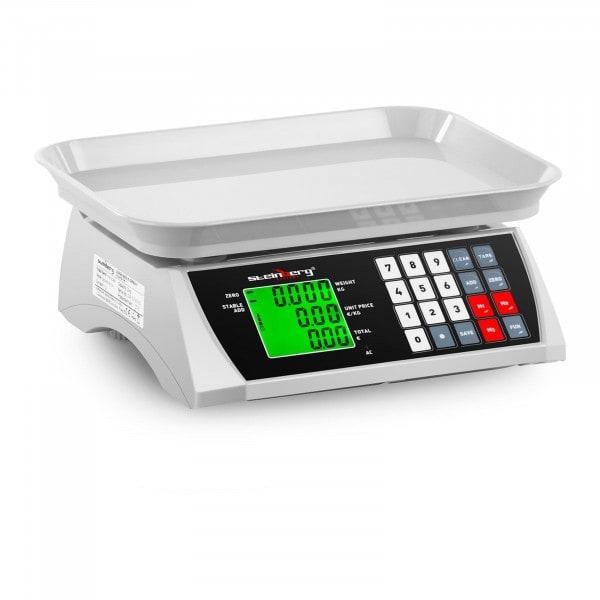 B-varer Butikkvekt – 30 kg / 1 g – 28,8 x 21,8 cm – LCD