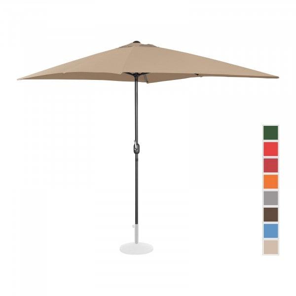 Sonnenschirm groß - taupe - rechteckig - 200 x 300 cm