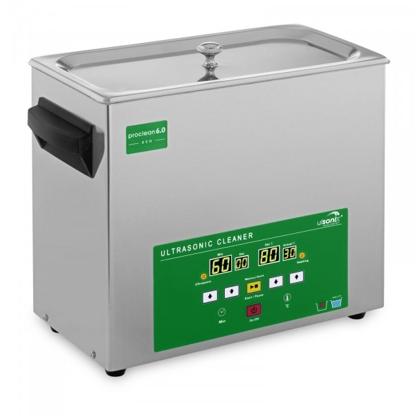 Factory second Ultrasonic Cleaner - 6 Litres - 120 W - Memory-Quick Eco