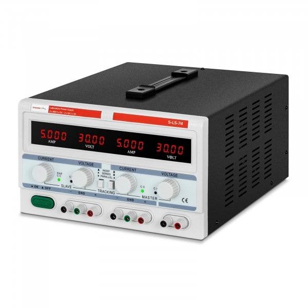 Laboratorní napájecí zdroj - 2 x 0-30 V/0-5 A DC - 1 x 5 V/3 A - 300 W