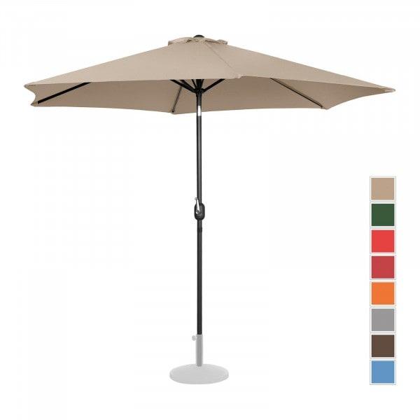 Sonnenschirm groß - creme - sechseckig - Ø 300 cm - neigbar