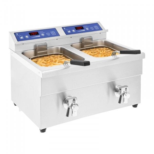 Inductie friteuse – 2x 10 liter – 60 tot 190°C
