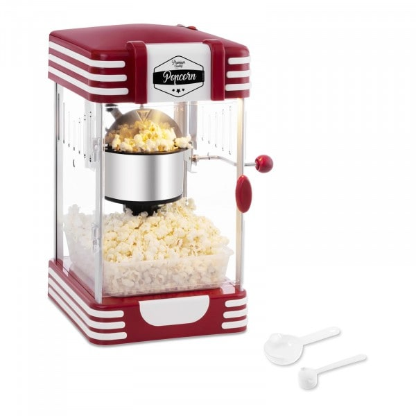 B-ware Popcorn Maker - 50's Retro Design - Red