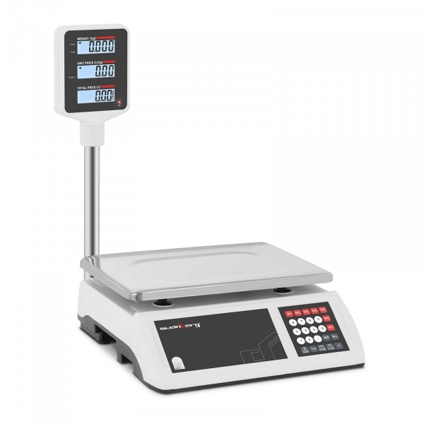 B-varer Butikkvekt - 15 kg / 2 g - hevet LCD display