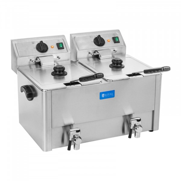 Electric Deep Fat Fryer - 2 x 13 litres - EGO thermostat
