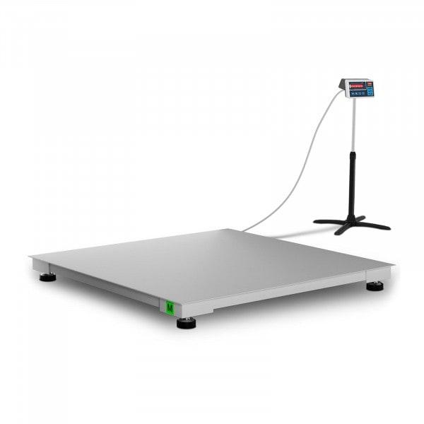 Lapmérleg - hitelesített - 600 kg / 200 g - 120 x 120 cm - LED