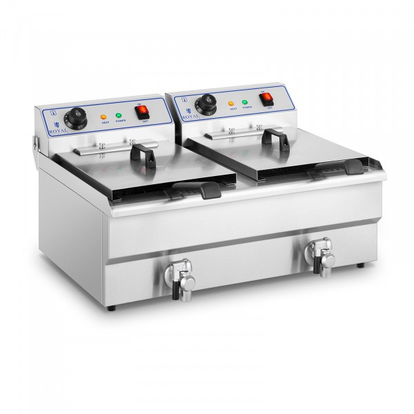 Factory seconds Electrical fryer - 2 x 16 L - 400 V