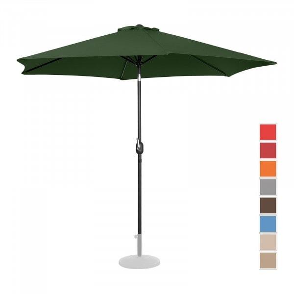 Large Outdoor Umbrella - green - hexagonal - Ø 300 cm - tiltable