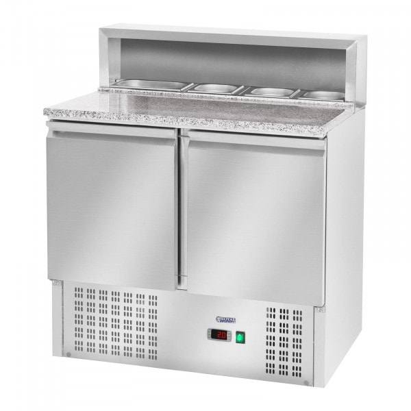 Pizza Cooling Table - 240 L - Granite Counter - 2 Doors
