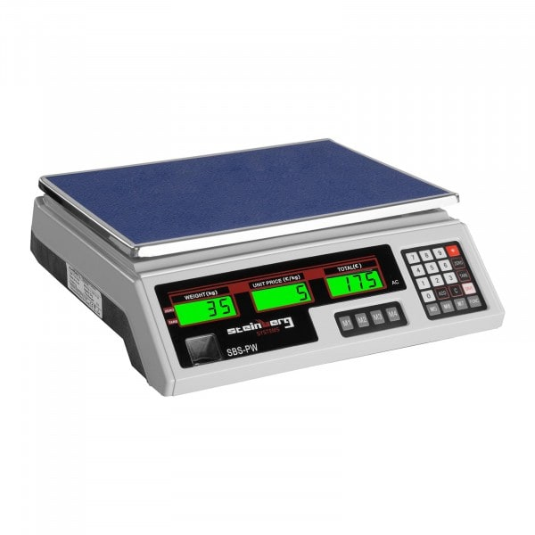 Occasion Balance poids-prix - 35 kg / 2 g - blanche - LCD